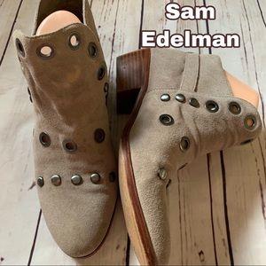 Sam Edelman size 8 beige leather boots shoes 🥾